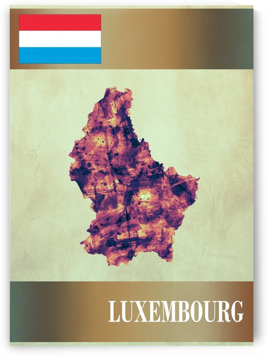 Luxembourg Map with Flag by Towseef Dar