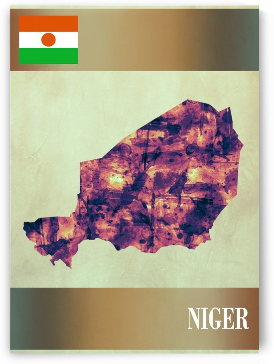 Niger Map with Flag by Towseef Dar