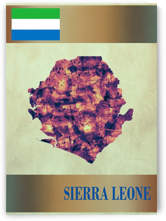 Sierra Leone Map with Flag by Towseef Dar