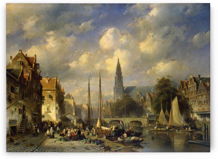 Urban Landscape by Charles Henri Joseph Leickert