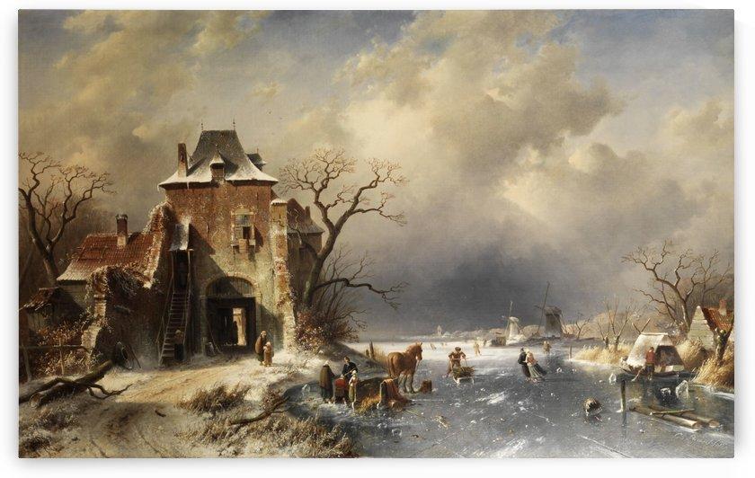 Hollandische Winterlandschaft by Charles Henri Joseph Leickert