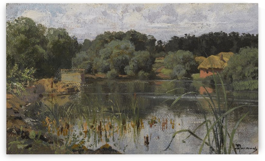 On the lake by Charles Henri Joseph Leickert