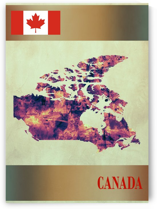 Canada Map with Flag by Towseef Dar