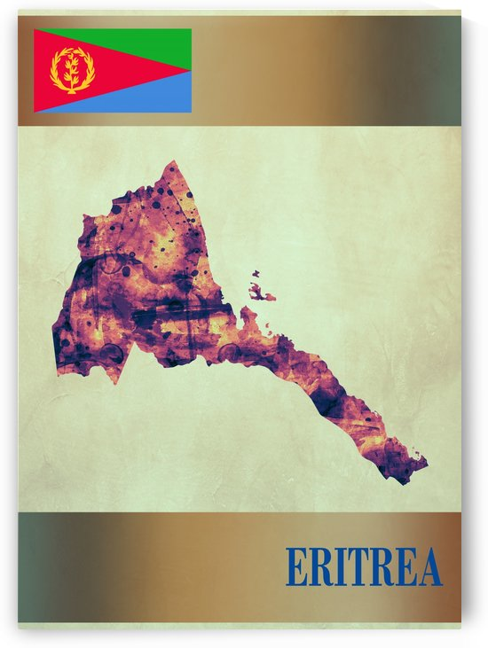 Eritrea Map with Flag by Towseef