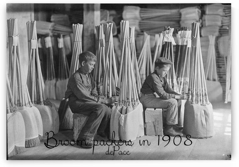 Broom packers in 1908 by dePace-