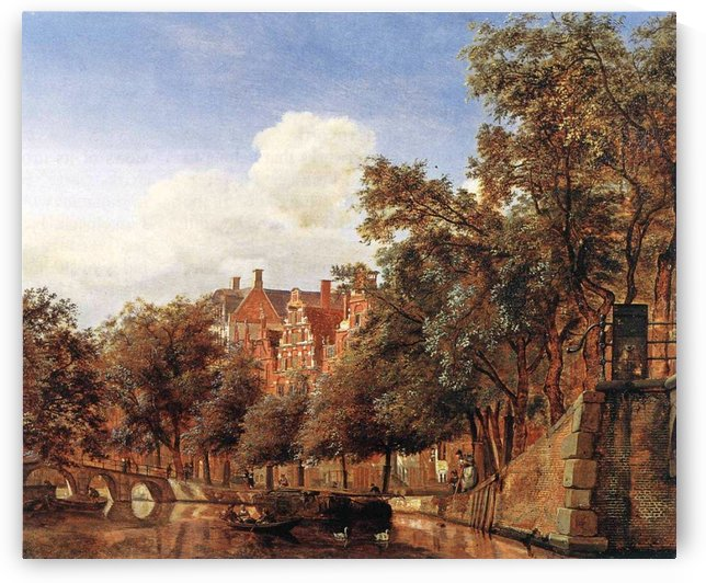 Along the canal by Charles Henri Joseph Leickert