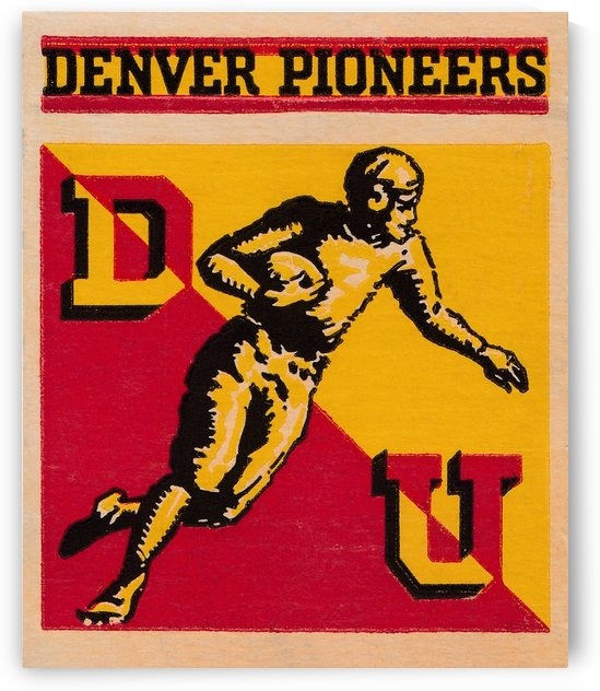 1941 denver pioneers football art by Row One Brand
