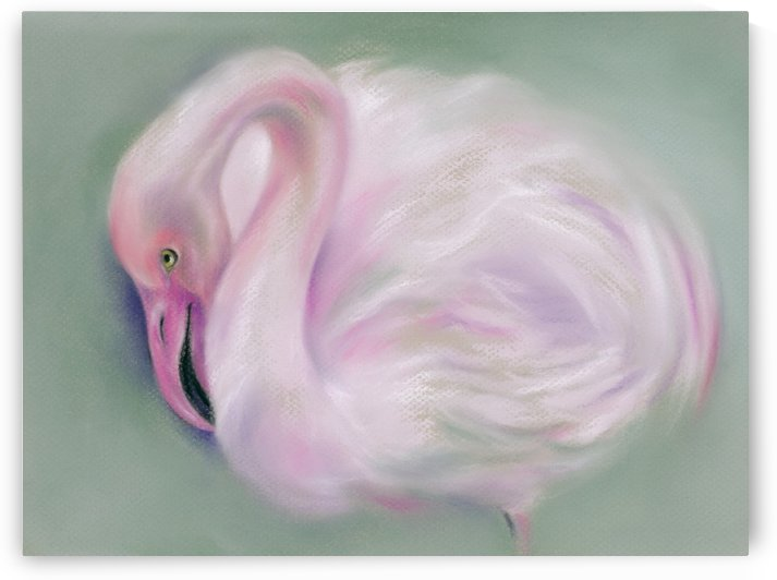 Soft Pink Flamingo by MM Anderson