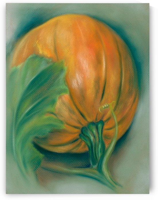 Pumpkin and Leaf by MM Anderson