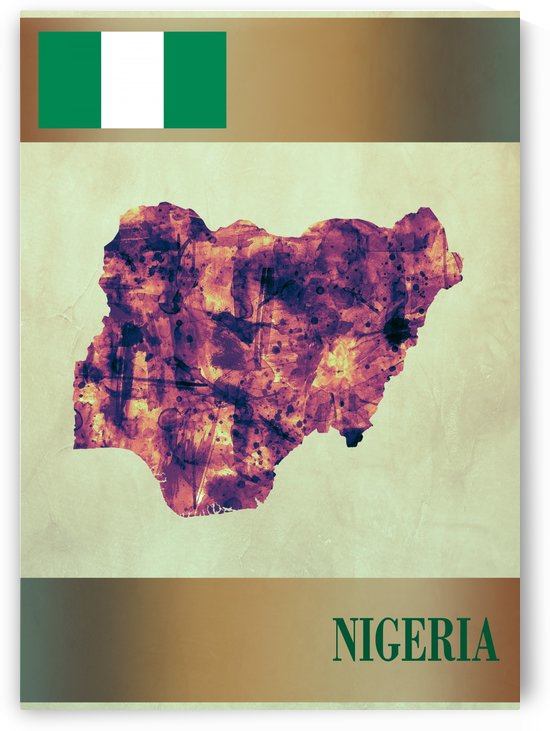 Nigeria Map with Flag by Towseef Dar