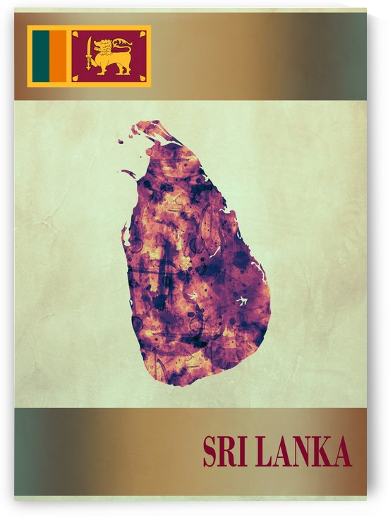 Sri Lanka Map with Flag by Towseef Dar