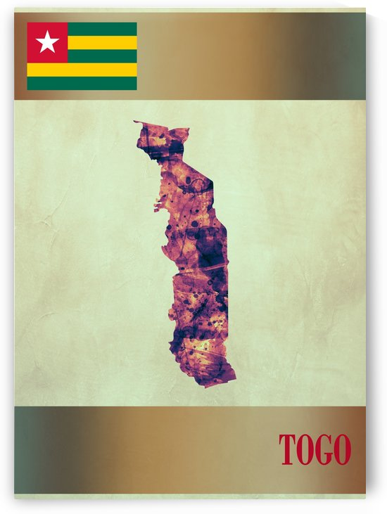 Togo Map with Flag by Towseef Dar