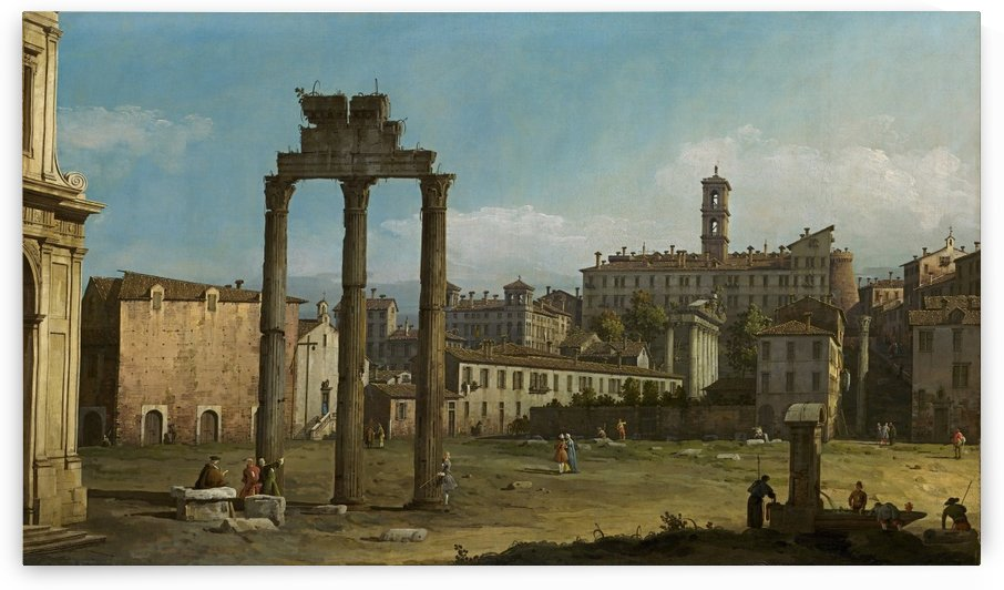 Ruins of the Forum, Rome by Bernardo Bellotto