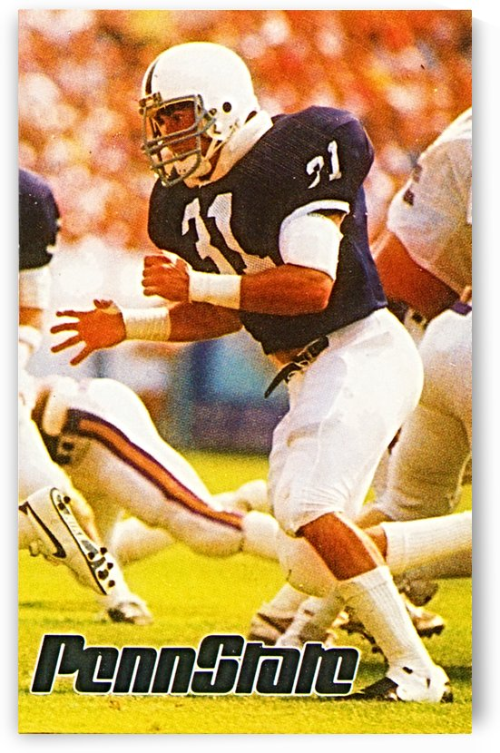 1986 penn state football poster shane conlan by Row One Brand