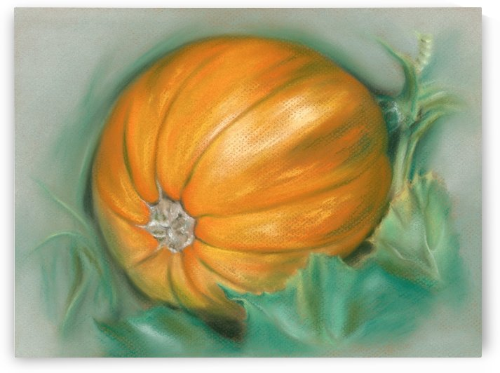Ripening Pumpkin on the Vine by MM Anderson