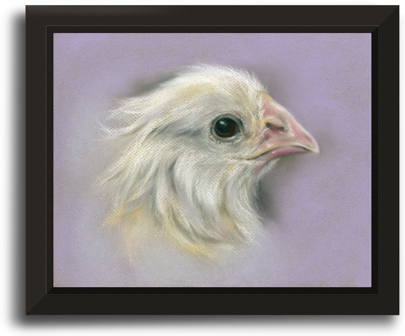Fluffy Yellow Chick on Purple by MM Anderson