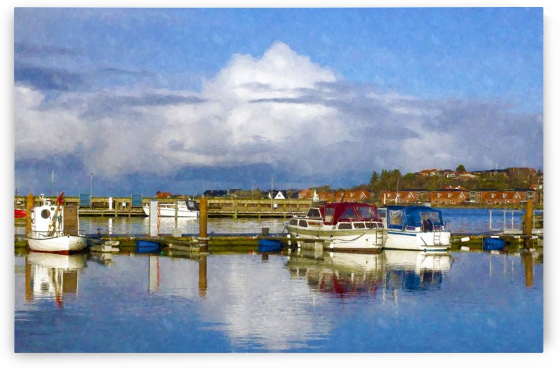 Small Danish harbor background by Rceeh