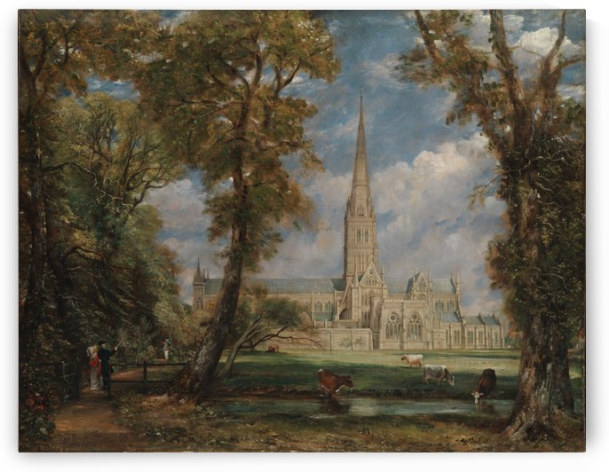 Salisbury Cathedral from the Bishop's Grounds by Jan van der Heyden