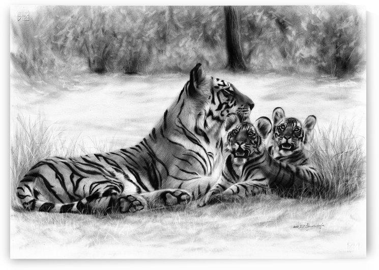 Bengal Tigers by Danguole Serstinskaja