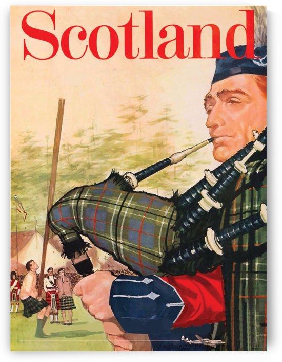 Scotland Bagpiper  by vintagesupreme