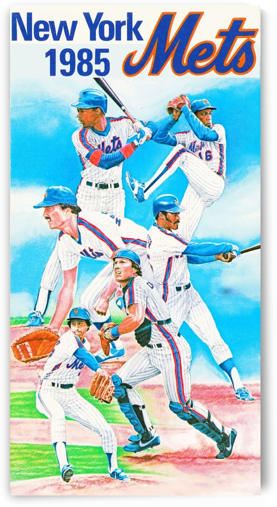 1985 new york mets baseball poster by Row One Brand