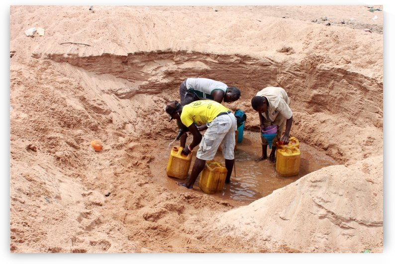 suffering for portable water we have to dig underground to get unclean water for driking and for domestic use by emmans4alls