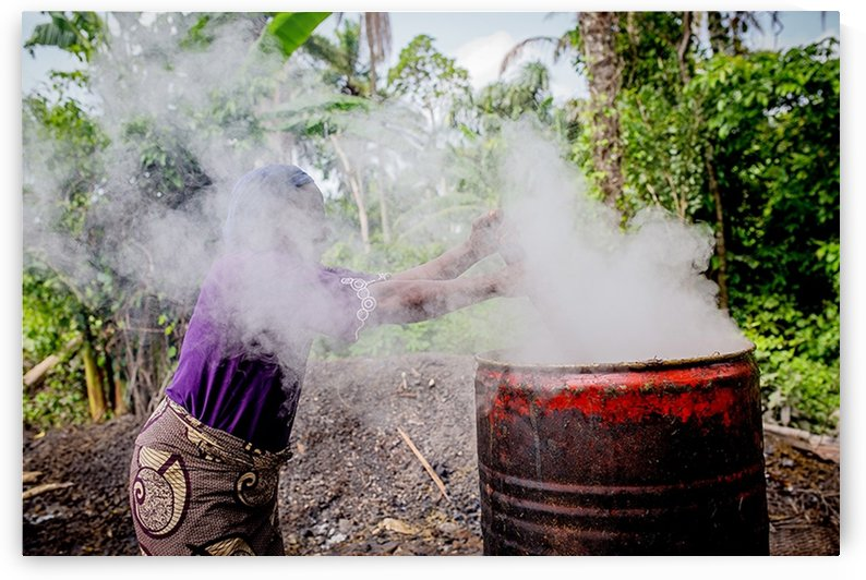 Cooking is an integral part of the local production of palm oil by emmans4alls