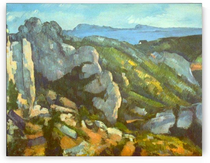 L Estaque by Cezanne by Cezanne