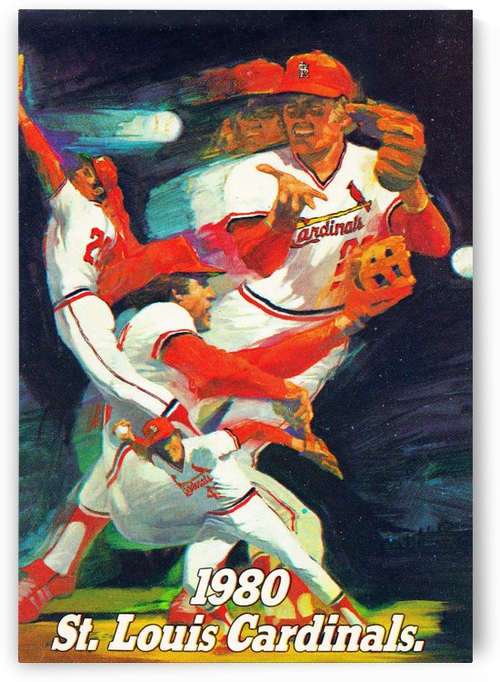 1980 st louis cardinals retro baseball poster by Row One Brand