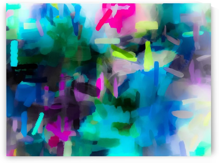 splash painting texture abstract background in blue pink yellow by TimmyLA