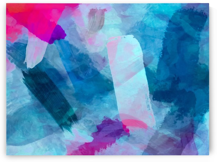 splash painting texture abstract background in blue pink by TimmyLA