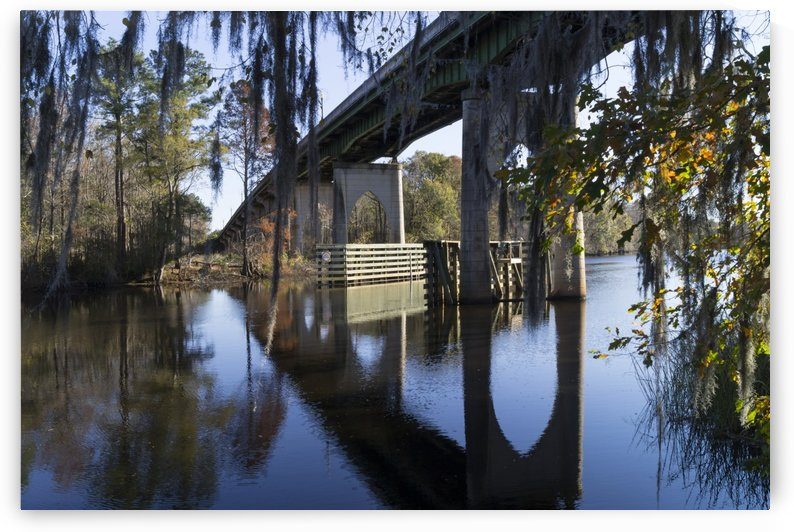 Bridge Over the Waccamaw on an Autumn Afternoon by MM Anderson