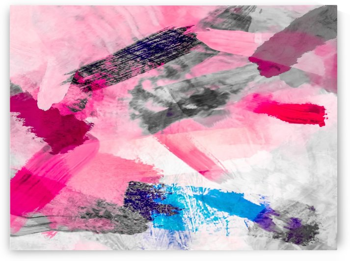 splash painting texture abstract background in pink blue by TimmyLA