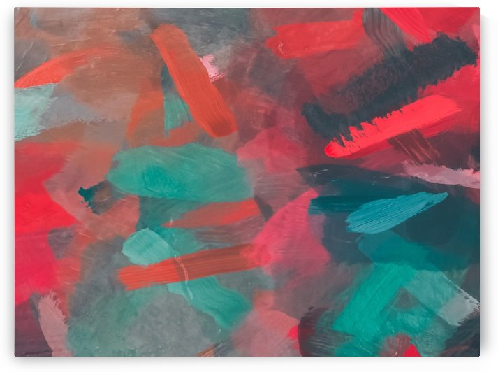 splash painting texture abstract background in green red by TimmyLA