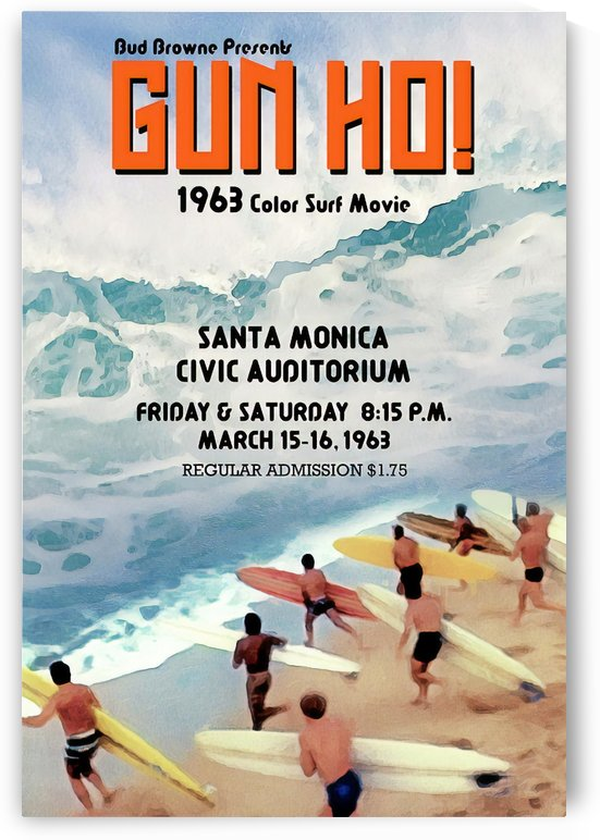 1963 GUN HO Surf Movie Poster by Surf Posters