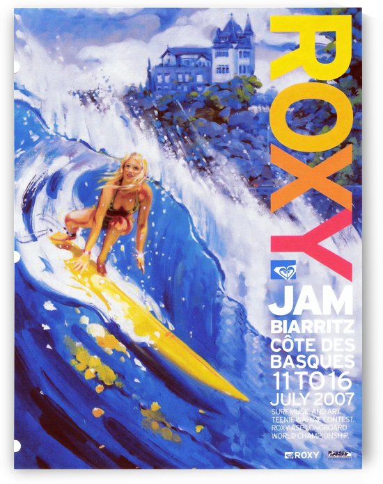 2007 ROXY Jam Biarritz Print - Surfing Poster by Surf Posters