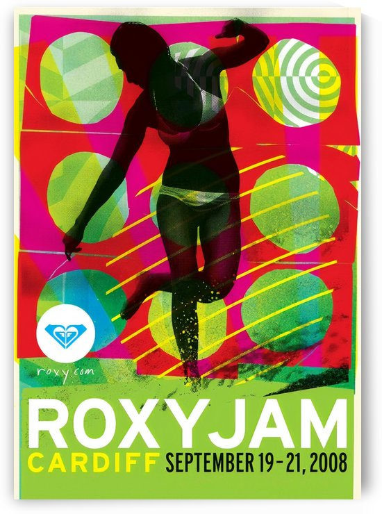 2008 ROXY Jam Cardiff Print - Surfing Poster by Surf Posters
