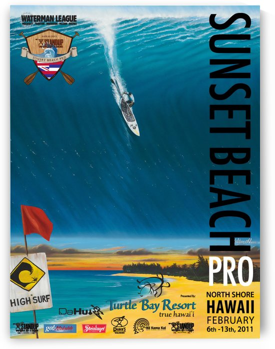 2011 SUNSET BEACH PRO Print - Surfing Poster by Surf Posters