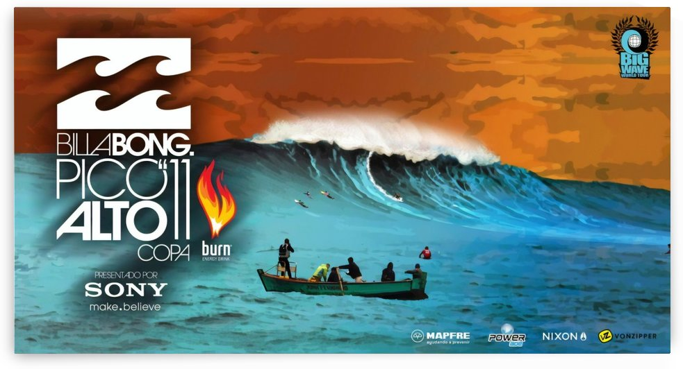 2011 BILLABONG PICO ALTO Print - Surfing Poster by Surf Posters