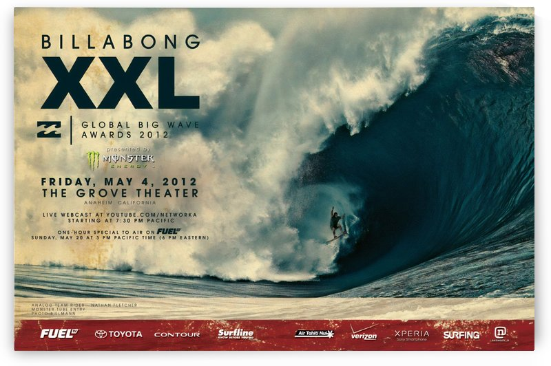 2012 BILLABONG XXL Big Wave Print - Surfing Poster by Surf Posters