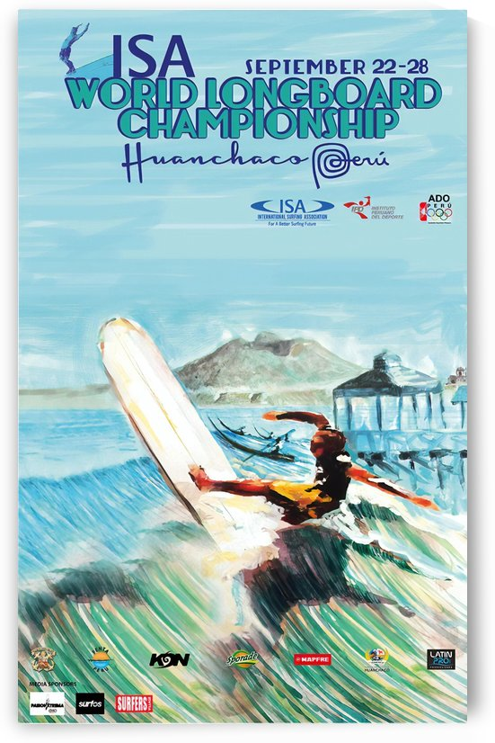 2013 ISA World Longboard Champions Print - Surfing Poster by Surf Posters