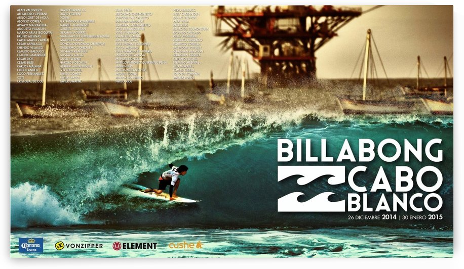 2015 BILLABONG Cabo Blanco Print - Surfing Poster by Surf Posters