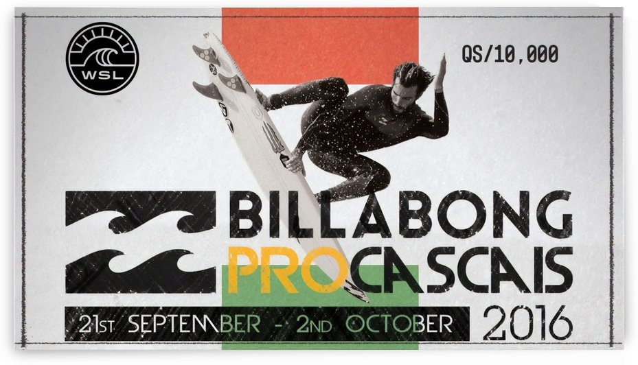 2016 BILLABONG Pro Cascais Print - Surfing Poster by Surf Posters