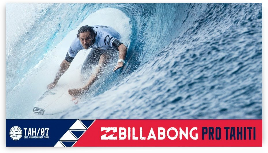 2017 BILLABONG Pro Tahiti Print - Surfing Poster by Surf Posters