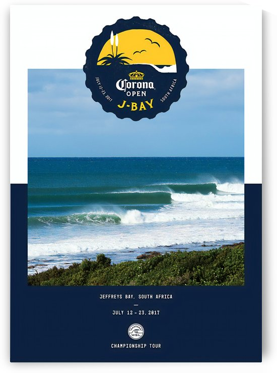 2017 J-BAY Carona Open Print - Surfing Poster by Surf Posters