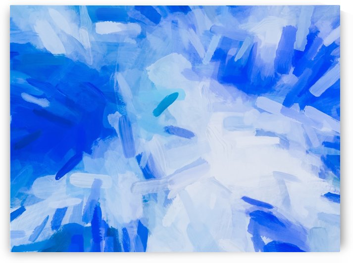 splash painting texture abstract background in blue by TimmyLA