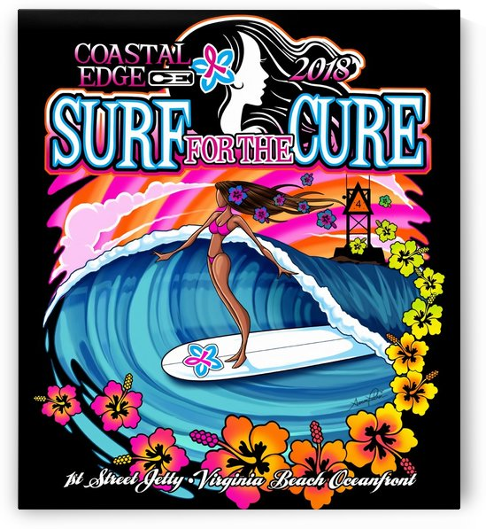 2018 SURF for the CURE Print - Surfing Poster by Surf Posters