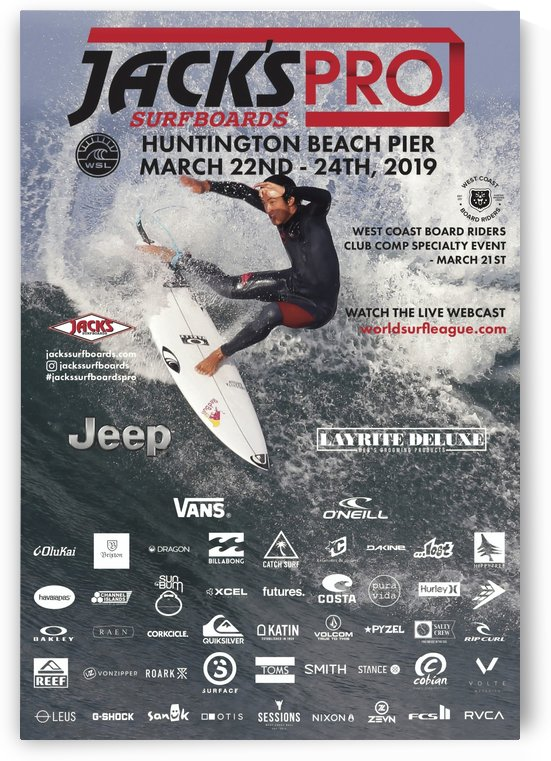2019 JACKS PRO Print - Surfing Poster by Surf Posters