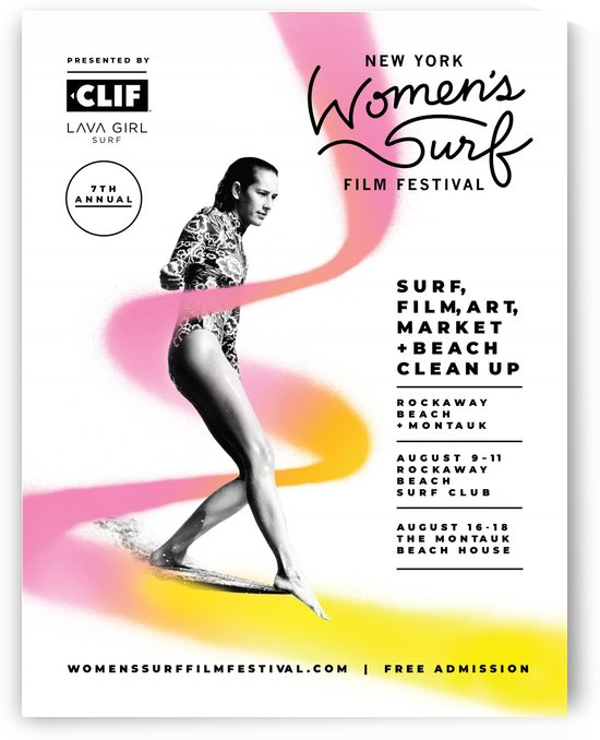 2019 WOMENS SURF Film Festival New York Print - Surfing Poster by Surf Posters