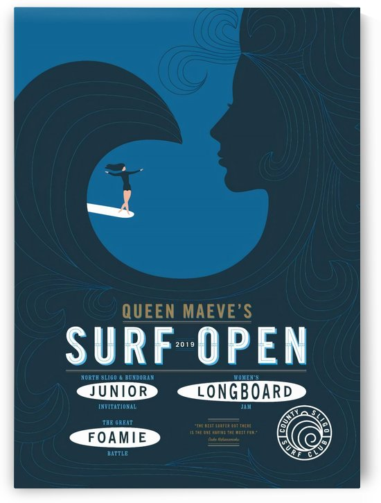 2019 QUEEN MAEVES Surf Open Print - Surfing Poster by Surf Posters